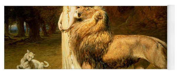Una And Lion From Spensers Faerie Queene Yoga Mat
