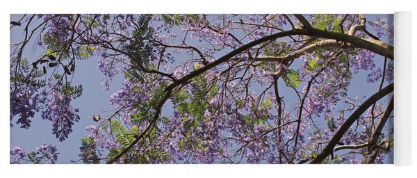 Under The Jacaranda Tree Yoga Mat