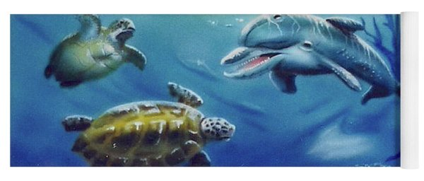 Under Water Antics Yoga Mat
