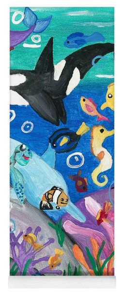 Underwater With Kitty And Friends Yoga Mat
