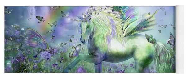Unicorn Of The Butterflies Yoga Mat
