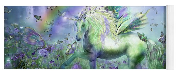 Unicorn Of The Butterflies Yoga Mat