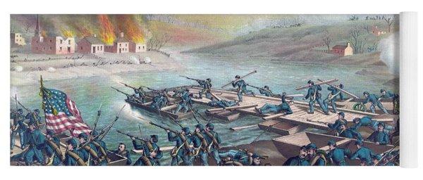 Union Forces Under Burnside Crossing The Rappahannock Yoga Mat