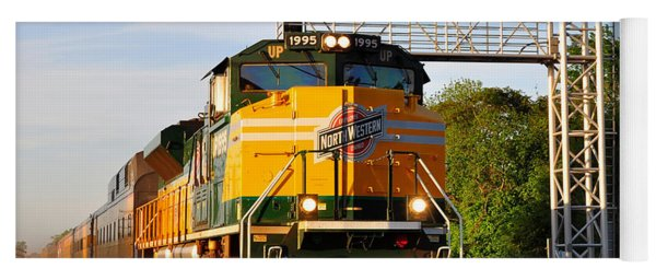 Union Pacific Chicago And North Western Heritage Unit Yoga Mat