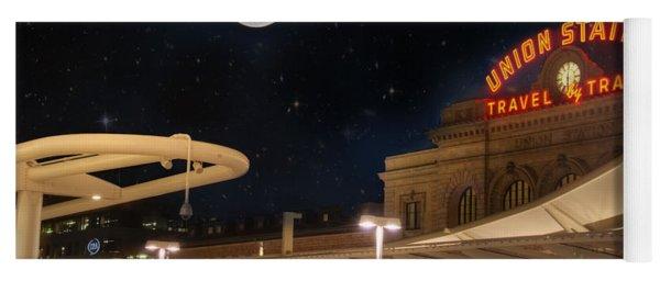 Union Station Denver Under A Full Moon Yoga Mat