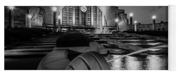 Union Terminal At Night Yoga Mat