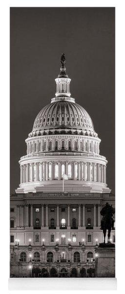 United States Capitol At Night Yoga Mat