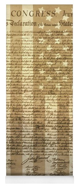 United States Declaration Of Independence Yoga Mat