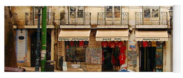 Lisbon Street Scene Yoga Mat