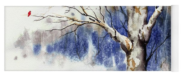 Untitled Winter Tree Yoga Mat