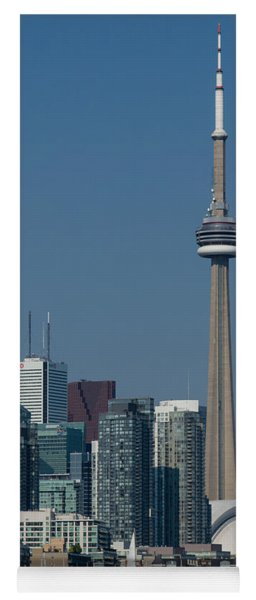 Up Close And Personal - Cn Tower Toronto Harbor And Skyline From A Boat Yoga Mat