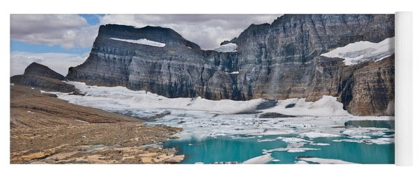 Upper Grinnell Lake And Glacier Yoga Mat