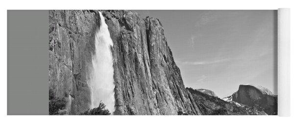 Upper Yosemite Fall With Half Dome Yoga Mat