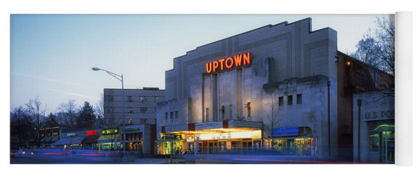 Uptown Theatre In Washington Dc Yoga Mat