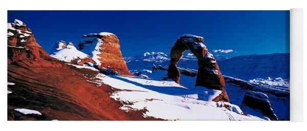 Usa, Utah, Delicate Arch, Winter Yoga Mat