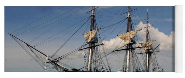Uss Constitution - Featured In Comfortable Art Group Yoga Mat