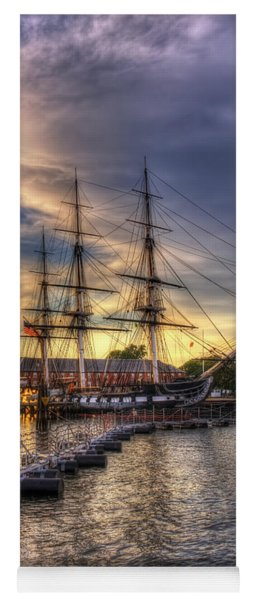 Uss Constitution Sunset - Boston Yoga Mat