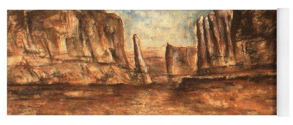 Utah Red Rocks - Landscape Art Painting Yoga Mat