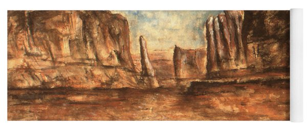 Utah Red Rocks - Landscape Art Painting Yoga Mat