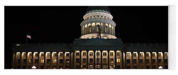 Utah State Capitol Front Yoga Mat