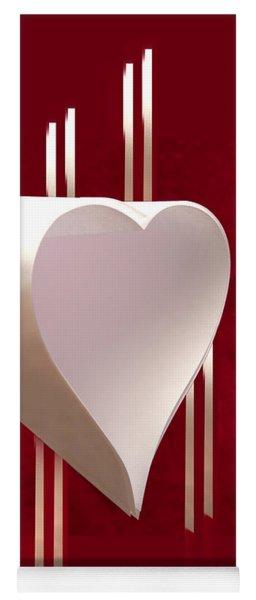 Valentine Paper Heart Yoga Mat