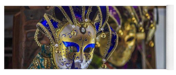 Venetian Carnival Masks Cadiz Spain Yoga Mat