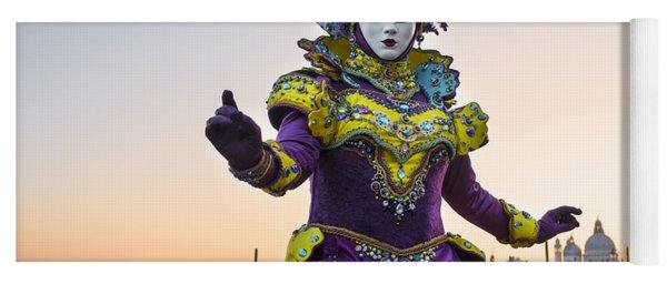 Venice Carnival Iv Yoga Mat