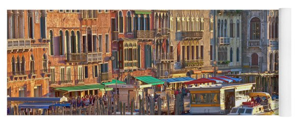 Venice Palazzi At Sundown Yoga Mat