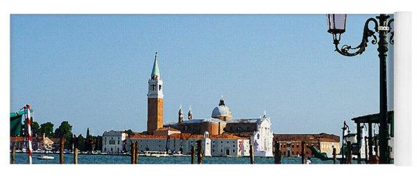 Venice View On Basilica Di San Giorgio Maggiore Yoga Mat