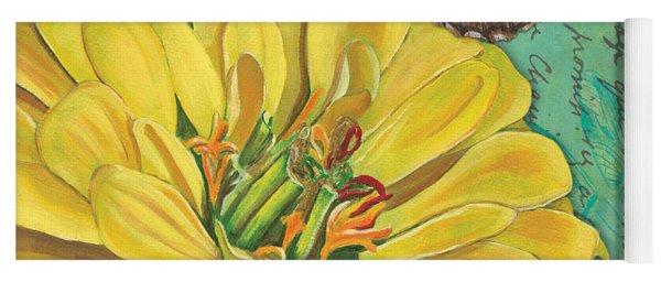 Verdigris Floral 2 Yoga Mat