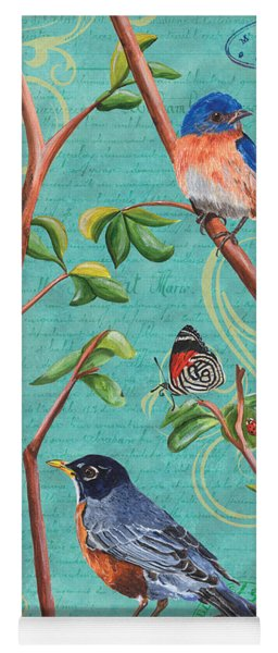 Verdigris Songbirds 1 Yoga Mat