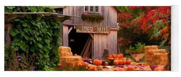 Vermont Pumpkins And Autumn Flowers Yoga Mat