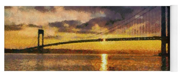 Verrazano Bridge During Sunset Yoga Mat