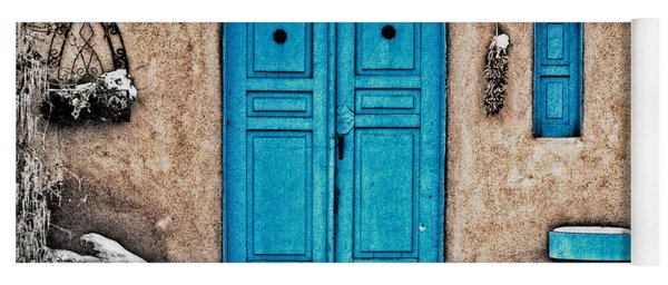 Very Blue Door Yoga Mat