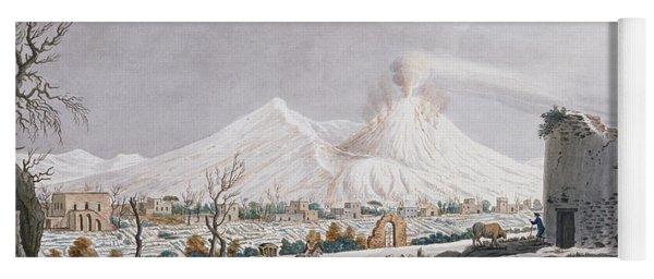 Vesuvius In Snow, Plate V From Campi Yoga Mat