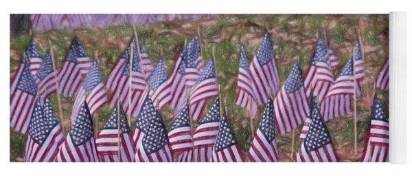 Veterans Day Display Color Yoga Mat