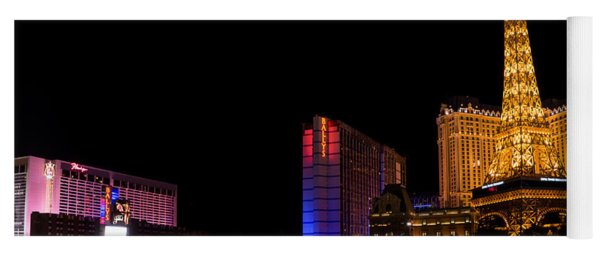 Vibrant Las Vegas - Bellagio's Fountains Paris Bally's And Flamingo Yoga Mat