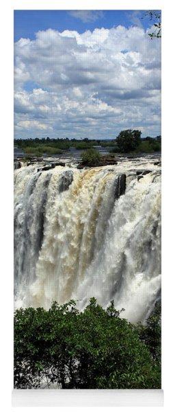 Victoria Falls On The Zambezi River Yoga Mat