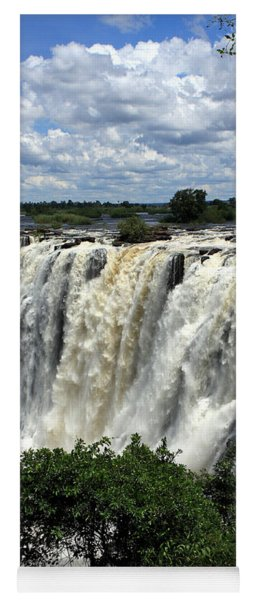 Victoria Falls On The Zambezi River Yoga Mat