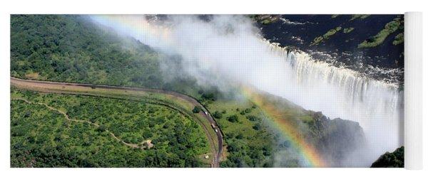 Rainbow Over Victoria Falls  Yoga Mat
