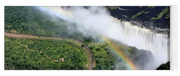 Rainbow Over Victoria Falls  Yoga Mat