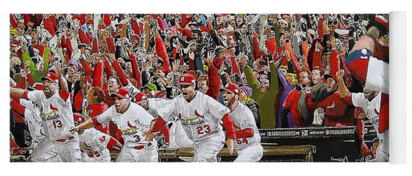 Victory - St Louis Cardinals Win The World Series Title - Friday Oct 28th 2011 Yoga Mat