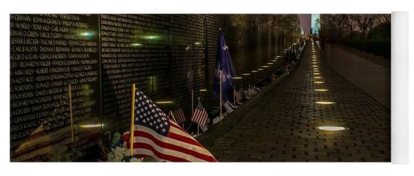 Vietnam Veterans Memorial At Night Yoga Mat