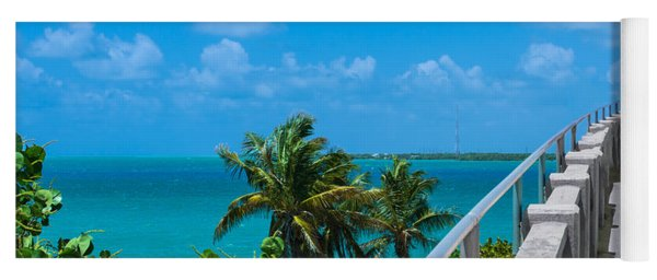 View From The Old Bahia Honda Bridge Yoga Mat