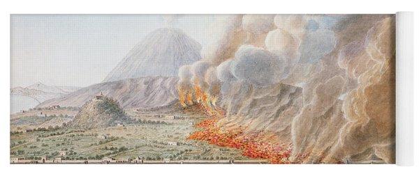 View Of An Eruption Of Mount Vesuvius Yoga Mat