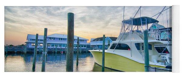 View Of Sportfishing Boats At Marina Yoga Mat