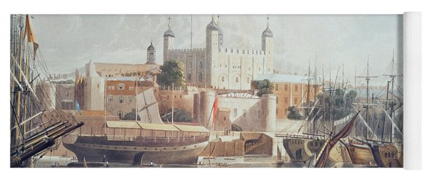 View Of The Tower Of London Yoga Mat