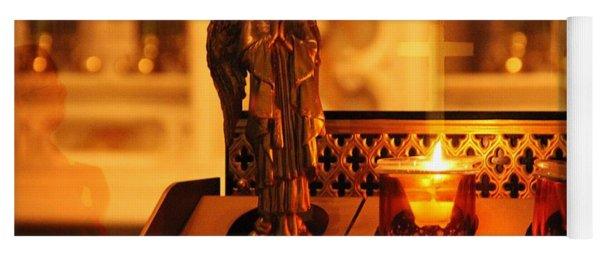 Vigil Light For Virgin Mary Yoga Mat
