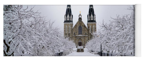 Villanova University In The Snow Yoga Mat