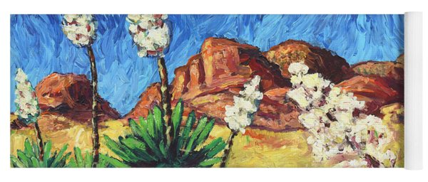 Yoga Mat featuring the painting Vincent In Arizona by James W Johnson